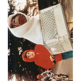 ET Screenshot - Henry Thomas Ridding with ET in his Bike Crate (10 x 8)