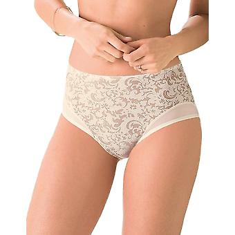 Anita Comfort 1561-709 Women's Ancona Ivory Off White Floral Full Panty Highwaist Brief