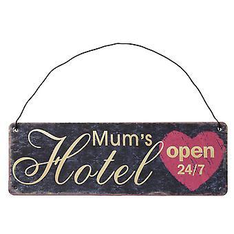 Mums Hotel Hanging Metal Wall Sign