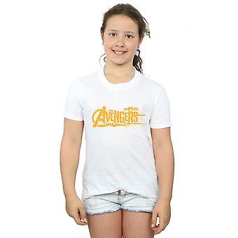 Marvel Girls Avengers Infinity War Orange Logo T-Shirt