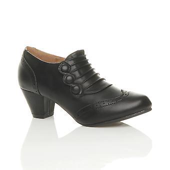Ajvani naisten puolivälissä kantapää painikkeet zip smart reikäkoristeinen kävelykenkä nilkan kenkä saappaat saapikkaat