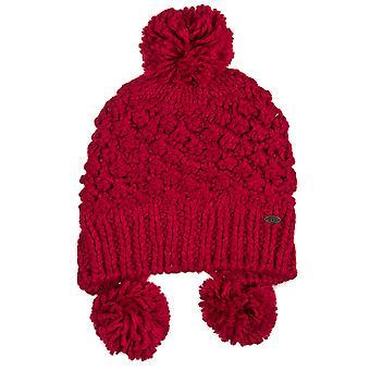 السيدات الحيوان إرضاء الوردي قبعة قبعة صغيرة مزركشة التبتية محبوك