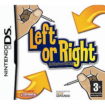 Vänster eller höger ambidextrous Challenge (Nintendo DS)-ny