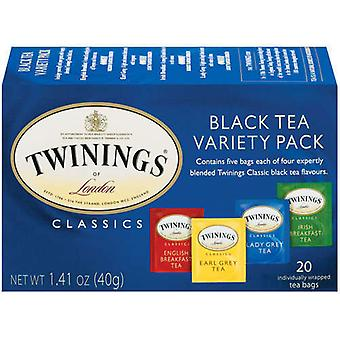 Twinings Lontoo klassikoita musta tee eri Pack 2 Box-paketti