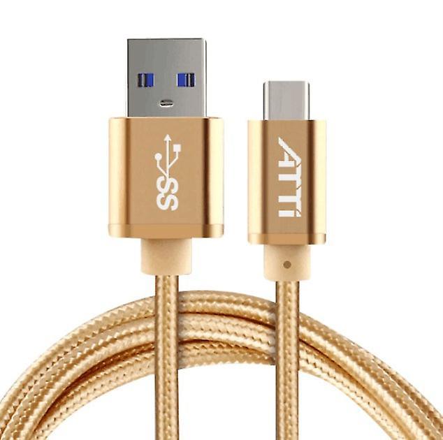 ATTi USB-C USB 3.0 3.1 data cable nylon/unibody 1 m gold bulk