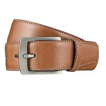 LLOYD Men's belt belts men's belts leather belt Cognac 3312