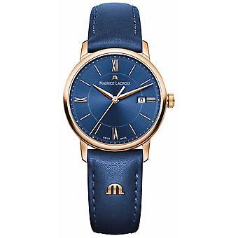 Maurice Lacroix Womans Eliros Blue Leather EL1094-PVP01-411-1 Watch