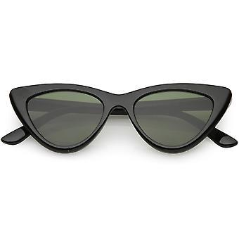 Retro Cat Eye zonnebrillen dik Frame neutraal vlakke gekleurde Lens 48mm