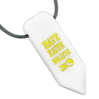 持っている信仰を信じて奇跡リバーシブルお守り陰陽矢印白水晶ペンダント ネックレス