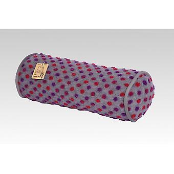 Neck roll poduszki srebrny barwione wełny 42 x 14 cm