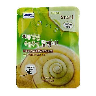 3w Clinic Mask Sheet - Fresh Snail - 10pcs