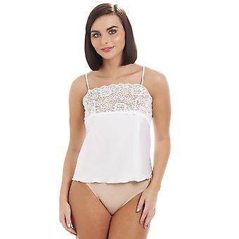 Камиль белье роскоши белый лифчик кружевной отделкой Топ пижамы