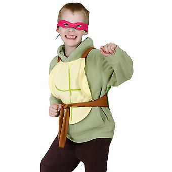 Teenage Mutant Ninja Turtles Red Raphael Boys Costume Mask Turtle Shells Kit