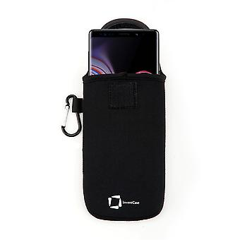 InventCase Neoprene Protective Pouch Case for Samsung Galaxy Note 9 / Note9 2018 - Black
