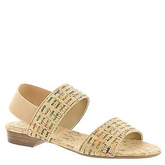 Vaneli Womens Braidy Suede Open Toe Casual Slingback Sandals