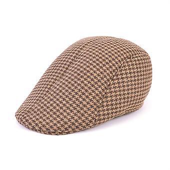 Flache Mütze Tweed Brown