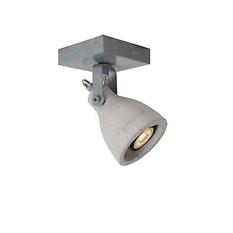 Lucide Concri-LED Industrial Square Metal Grey Ceiling Spot Light