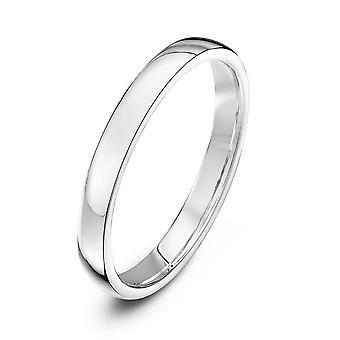 Star Wedding Rings Platinum Light Court Shape 2.5mm Wedding Ring