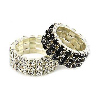 Lincoln Diamante Plaiting Bands (Pack of 20)
