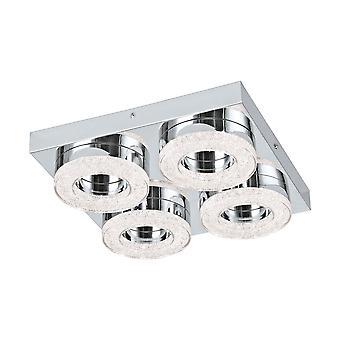Eglo - Fradelo quattro Round Crystal LED soffitto montaggio EG95664
