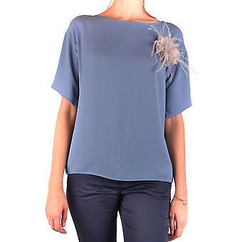 Fabiana Filippi Ezbc055031 Camisa de Acetato Azul Feminino'