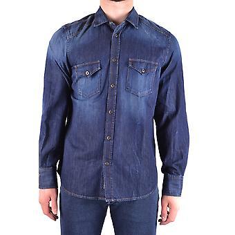 Jacob Cohen Ezbc054245 Männer's blaue Baumwolle Shirt