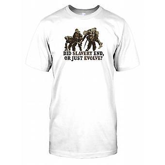 Gjorde slaveri slutt eller utvikle bare - tankevekkende sitat Mens T-skjorte