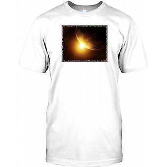 Awesome jord og sol design-Herre T shirt