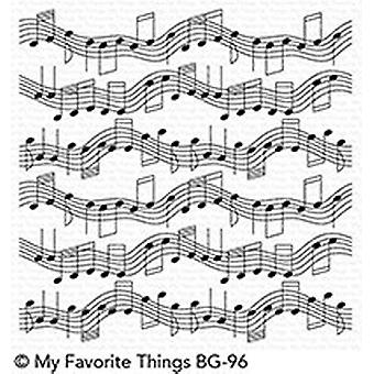My Favorite Things Musical Notes Background Stamp (BG-96)