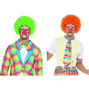 Klaun s parukou, ozdobný cirkus