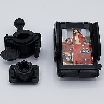 360 degree motor/bicycle mobile phone holder with picture frame-black