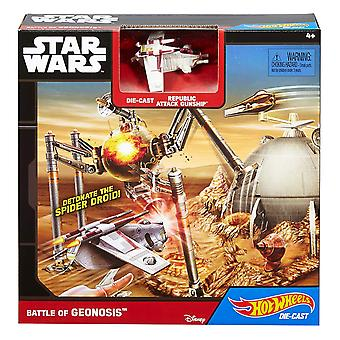 Hot Wheels Star Wars Starship slag Geonosis Play Set