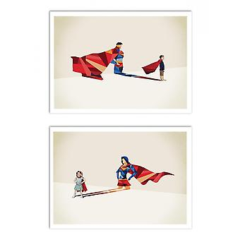 2 Art-Posters - Duo Superheld - Jason Ratliff