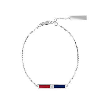Montreal Canadians Sterling Silver Diamond Chain Chain Bracelet In Red and Blue