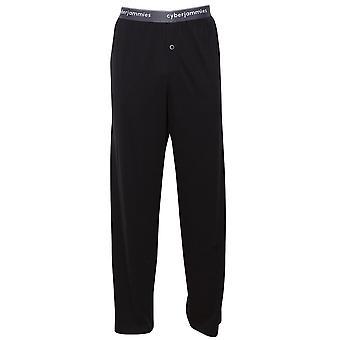 Cyberjammies 6395 Mężczyźni's Isaac Black Cotton Piżama Pant