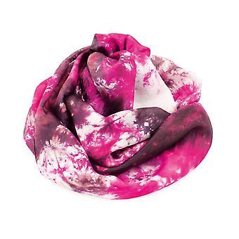 المجموعة الأبدية التوت الوردي متعدد التعادل صبغ Oblong وشاح الحرير النقي
