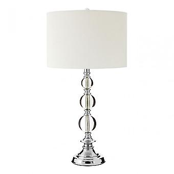 Premier Home Levin Table Lamp, Fabric, Silver
