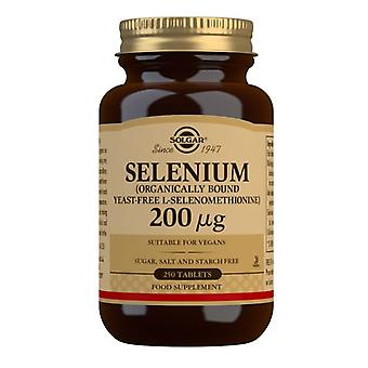 Solgar Selen 200ug (Drożdże wolne) Tabs 250 (2558)