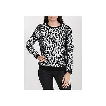 Nu Denmark Cool Coloured Leopard Print Sweatshirt
