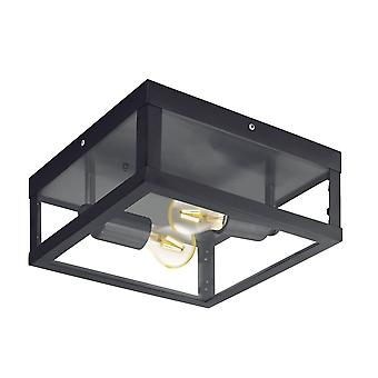 Eglo Alamonte 1 IP44 Outdoor Ceiling Light In Black