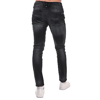 Mens Duck and Cover Maylead Slim Fit Jeans in Black