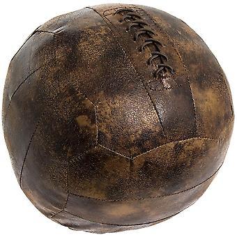 Antik stil dörr stoppa fotboll brunt Faux läder shabby chic gåva
