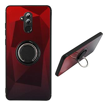 Back Cover Ring/magnet Aurora Huawei Mate 20 Lite red + Black
