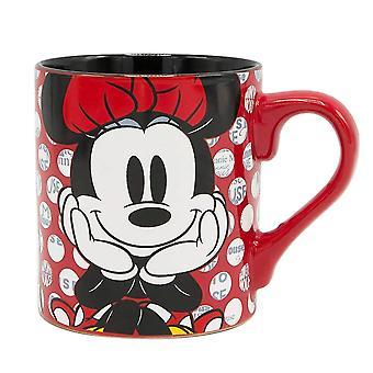 Minnie mouse polka dot 14 onça caneca