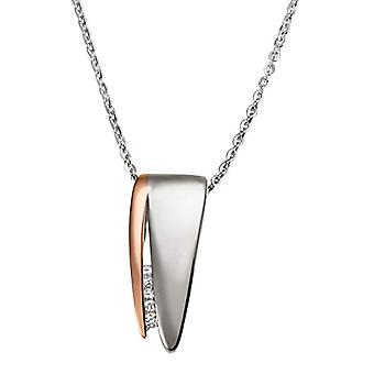 Goldmaid-keten met vrouwen hanger met diamant (0 -05 CT)-Zilver Sterling 925