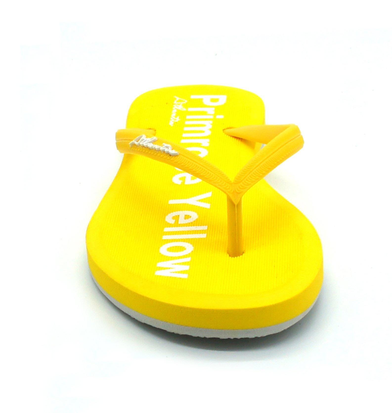 Simply colorful primrose yellow flip flops