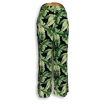 C. Wonder Women's Pants Petite Tropical Palm Print Pull-On Green A289709