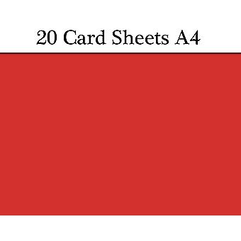 20 Christmas Red A4 Card Sheets for Crafts   Coloured Card for Crafts
