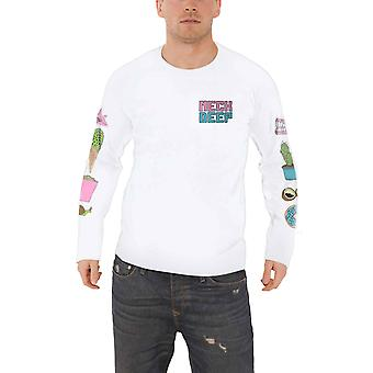 Neck Deep T Shirt In Bloom Band Logo new Official Mens White Long Sleeve