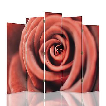 Dekorativa rumsavdelare, 5 paneler, dubbelsidig, canvas, blomma steg 1